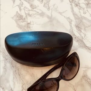 Prada Accessories - Prada Cat eye tortoise  sunglasses #SPR21N w/case
